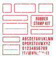 rubber stamp letters red stamps frame and vector image vector image
