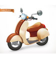 scooter 3d realistic icon vector image