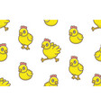 seamless pattern with chicks vector image vector image