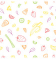 Seamless pattern with slices or pieces of tasty