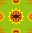 seamless sun flower abstract background vector image vector image