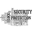 security word cloud concept vector image vector image