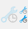 service time mesh wire frame model and vector image vector image
