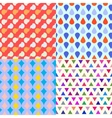 set four seamless patterns vector image
