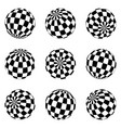set minimalistic shapes black and white vector image