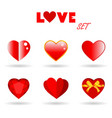 set of hearts design and love elements vector image vector image