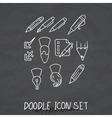 Set of Universal Doodle Icons Variety of Topics vector image vector image