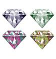 Shiny Diamonds Set4 vector image vector image
