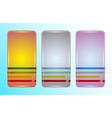 smartphone case retro design template set vector image