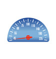 speed car mileage vector image