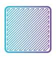 Square shape emblem in color gradient silhouette