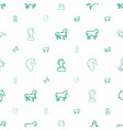 stallion icons pattern seamless white background vector image vector image