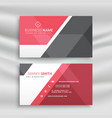 stylish red and gray geometric business card vector image vector image