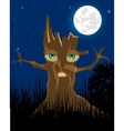 Terrible stump in the night vector image vector image