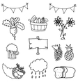 thanksgiving set element doodles vector image vector image