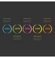 Timeline Infographic colorful circles and text vector image vector image