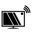 tv icon simple black style vector image vector image