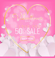 valentines day sale background calligraphy and vector image vector image