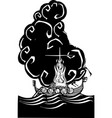 viking funeral vector image vector image