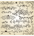 Vintage floral design elements vector | Price: 1 Credit (USD $1)