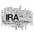 what is an ira text word cloud concept vector image vector image