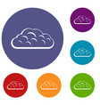 Winter cloud icons set