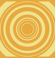 yellow circle on orange backdrop vector image vector image