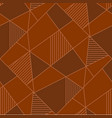 abstract geometric figures seamless pattern vector image vector image