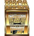 Ancient Peruvian gold ornament vector image vector image