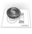 Auto Spare Part vector image
