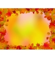 Autumn leaves border for your text EPS 8 vector image