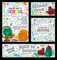 back to school poster for education sale design vector image vector image