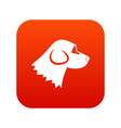 beagle dog icon digital red vector image
