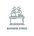 business stress line icon linear concept vector image vector image