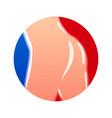 butt logo round shape with big beautiful knocker