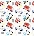 cartoon emergency vehicles seamless pattern vector image
