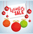 christmas big winter sale vector image vector image