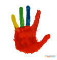 close up colored hand vector image vector image