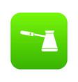 coffee cezve icon digital green vector image vector image