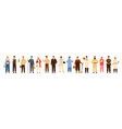 collection of men and women of various occupations vector image vector image