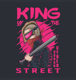 cyber urban king street vector image vector image