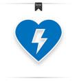 defibrillator icon blue aed vector image vector image
