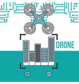 drone technology futuristic vector image vector image