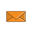 envelope mail courier delivery line and fill vector image