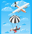 extreme sports isometric background vector image vector image
