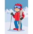 Flat design of little boy from vector image