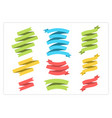 flat ribbon template banner collection vector image vector image
