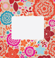 floral ornamental greeting card vector image vector image