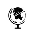 globe of earth icon vector image vector image
