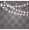 glowing lights for holidays transparent glowing vector image vector image